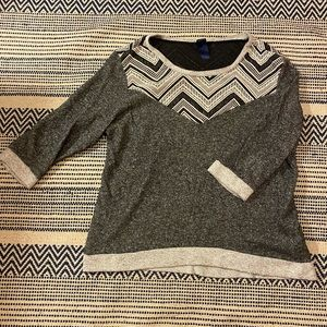 Target Gray, Navy and White Sweater